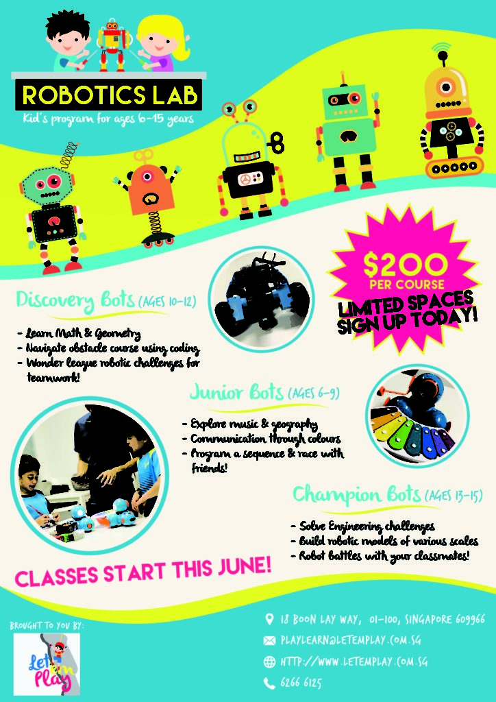 Robotics Classes For Kids The Wow Experience Pte Ltd