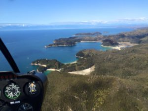 helicopter view of tasman