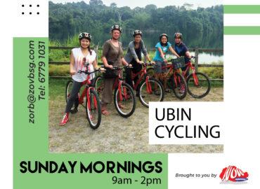 Cycling in pulau ubin
